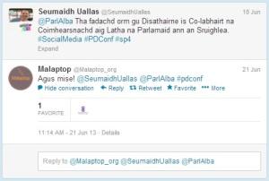 Tweet o Malaptop